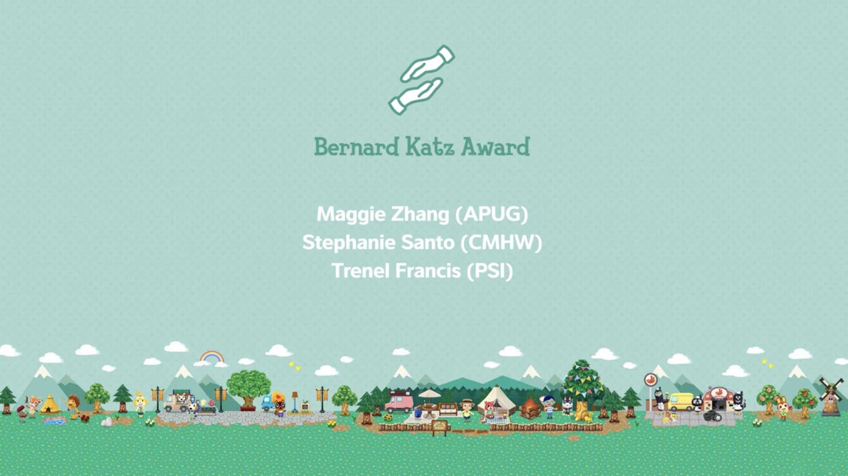 RA Maggie Zhang Wins the Bernard Katz Award!
